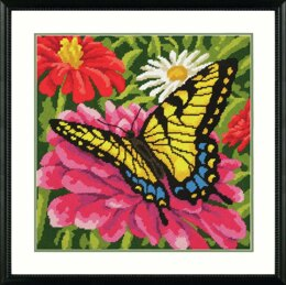 Dimensions Tapestry Kit: Butterfly and Zinnias
