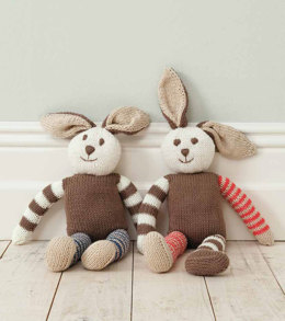 Rabbit Toys in Rico Baby Cotton Soft DK - 167