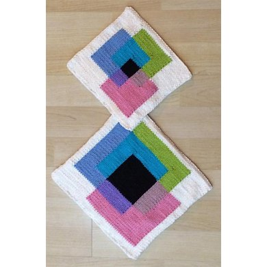 KGeometry: Placemat and Pot Holder with Square Venn Diagram