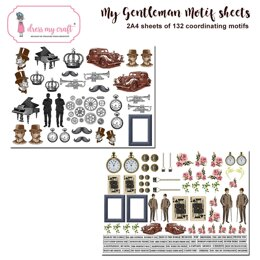 Dress My Craft Image Sheet 240gsm A4 2/Pkg - The Gentleman