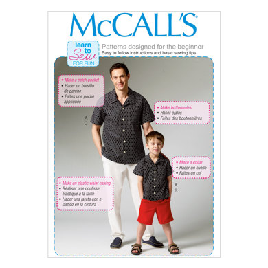 McCall's Men's/Boys' Shirt, Shorts and Pants M6972 - Sewing Pattern