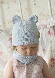 Mouse hat and cowl set