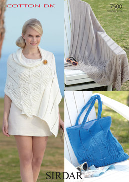 Throw, Wrap and Bag in Sirdar Cotton DK - 7500
