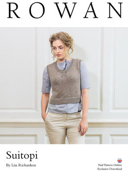 Suitopi Vest in Rowan Cotton Lustre