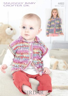 Baby and Girls Jackets in Sirdar Snuggly Baby Crofter DK - 4483
