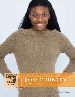 Cross Country Pullover in Juniper Moon Farm Herriot Great - Downloadable PDF