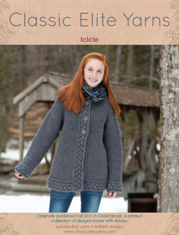 Icicle Jacket in Classic Elite Yarns Ariosa - Downloadable PDF