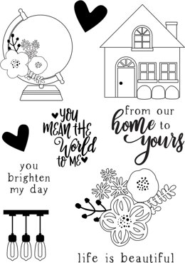 Simple Stories So Happy Together Photopolymer Clear Stamps - 600487