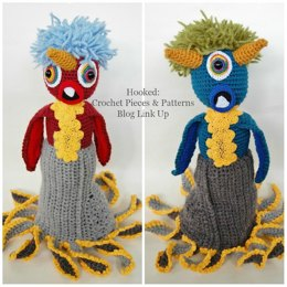Topsy Turvy Monster Doll Crochet Pattern