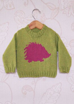 Intarsia - Hedgehog Silhouette Chart - Childrens Sweater