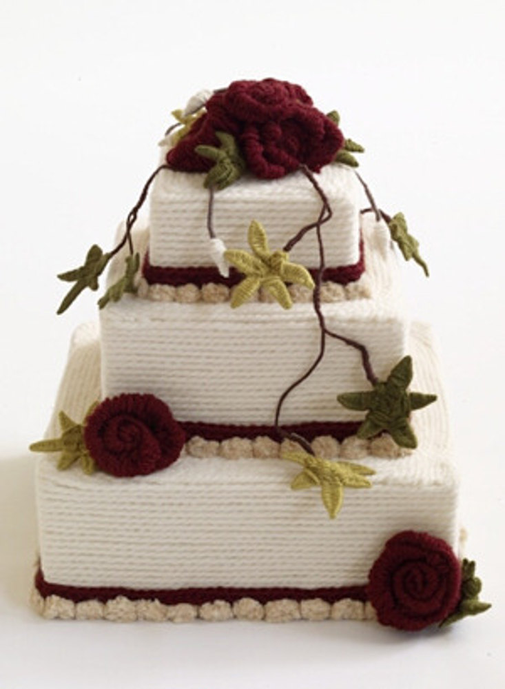Red Velvet Ribbon Cake In Lion Brand Vanna S Choice