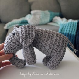 Mock Knit Elephant