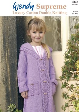 Coat with Sailor Collar in Wendy Supreme Cotton DK - 5125