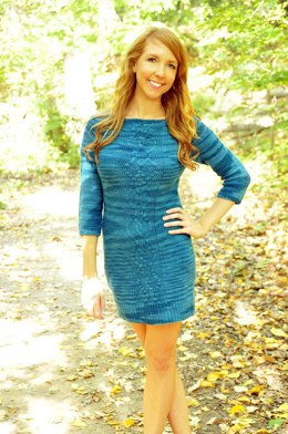 Sweater Weather Raglan Cable Knit Dress