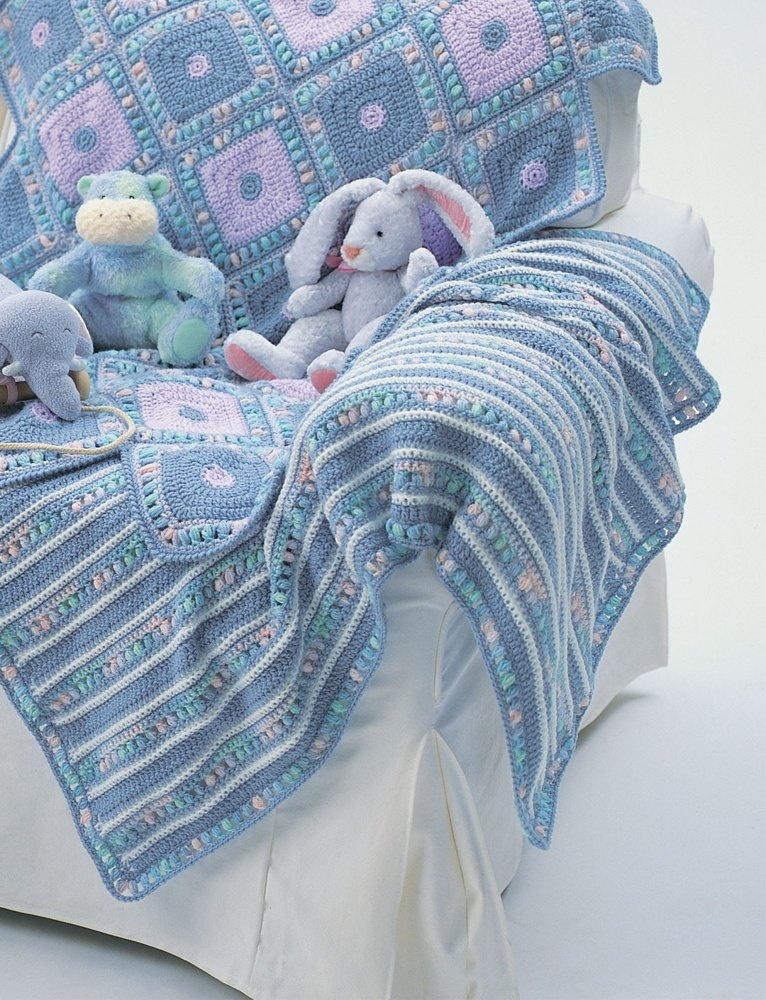 Soft Stripes Blanket In Bernat Softee Baby Solids