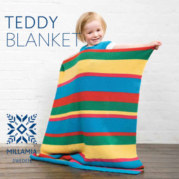 Teddy Blanket in MillaMia Naturally Soft Merino - Downloadable PDF