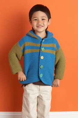 Patrick's First Jacket  in Lion Brand Cotton-Ease - 70623AD