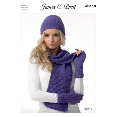 Scarves, Hats and Gloves in James C. Brett Twinkle DK - JB110