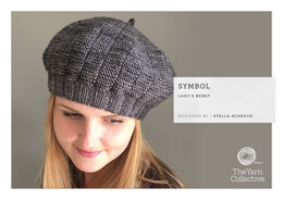"""Symbol Beret by Stella Ackroyd"" - Beret Knitting Pattern For Women in The Yarn Collective"