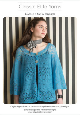 Gazelle Cardigan in Classic Elite Yarns Pirouette - Downloadable PDF