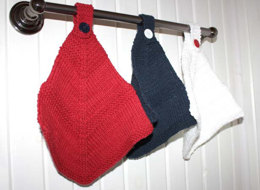 Red White and Blue Dishcloth in Lily Sugar 'n Cream Solids