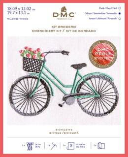 DMC Bicycle Kit - Small Embroidery Kit - 18cm x 12cm