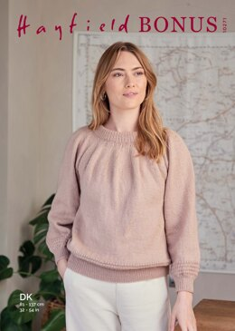 Round Neck Sweater in Hayfield Bonus DK - 10271 - Downloadable PDF