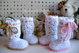 Angel Baby Booties