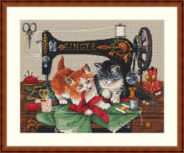 Merejka Players and Singer Cross Stitch Kit - 27cm x 23cm