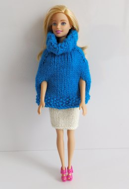 Poncho & Skirt Barbie Outfit