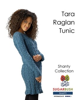 Tara Raglan Tunic in Sugar Bush Yarns Shanty - Downloadable PDF