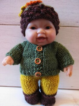 """Berenguer 8"""" Doll Outfit"""