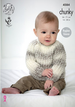 Sweaters in King Cole Baby Soft Chunky - 4584 - Leaflet