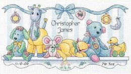 Dimensions Baby Friends Birth Record Cross Stitch Kit - 36 x 20cm