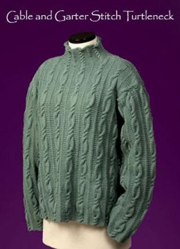 Cable and Garter Stitch Turtleneck #116
