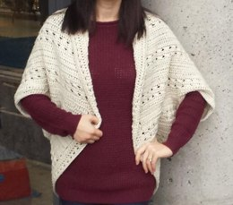 Easy Cable Crochet Shrug