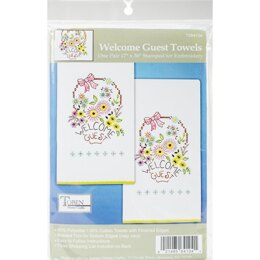 Tobin Stamped For Embroidery Kitchen Towels - Welcome Guest