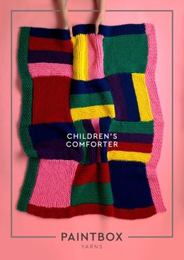"""Children's Comforter"" - Free Knitting Pattern For Home in Paintbox Yarns Wool Mix Super Chunky"