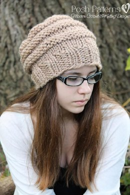 347cc9c5e28 Beehive Slouchy Hat Knitting Pattern 242