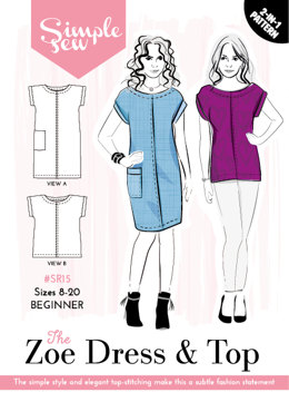 Simple Sew Patterns The Zoe Dress & Top SR15 - Sewing Pattern