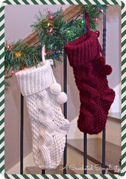 Big Bold Cabled Stocking