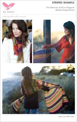 Striped Shawls in Be Sweet Extra Fine Mohair