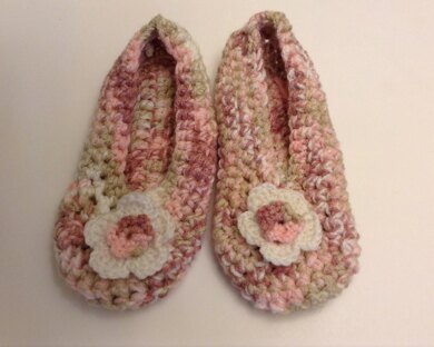 House Shoes Slippers flower
