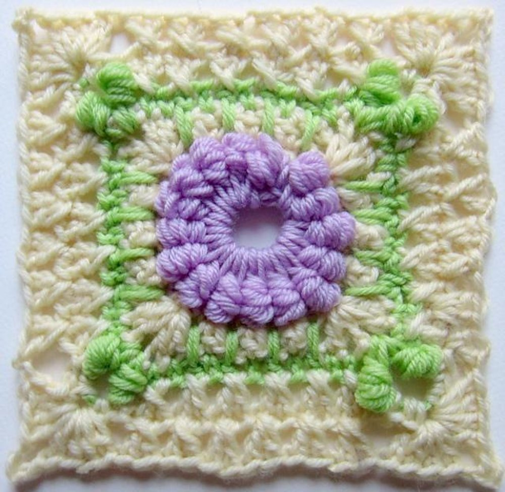 Hydrangea Shrub 6 Square Crochet Pattern By Marie Segares