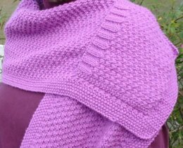 Double Moss Pocket Shawl