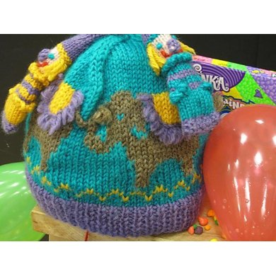 Elephants and Clowns Circus Hat