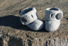 Holdenboot knit/felt Slipper Boots and Headband