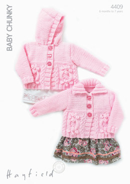 Cardigans in Hayfield Baby Chunky - 4409 - Downloadable PDF