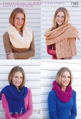 Snood and Scarfs in Hayfield Super Chunky with Wool - 7383