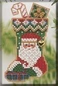 Mill Hill St. Nick Christmas Stocking Cross Stitch Kit